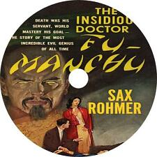 The Insidious Dr. Fu-Manchu, Sax Rohmer Evil Mystery Audiobook on 1 MP3 CD