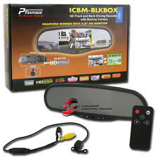 CAR REAR VIEW MIRROR WITH HD FRONT & BACK DRIVING RECORDER PLUS BACK-UP CAMERA