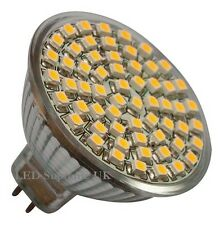 9 x MR16 60 SMD LED 12V (10~30V DC/10~18V AC) 330LM 3.5W White Bulbs ~50W