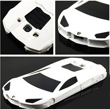 Unique New Cool White 3D Race Car Case for Samsung Galaxy S3 T999 Stand Cover