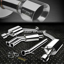 "J2 DUAL 4""MUFFLER TIP STAINLESS RACE CATBACK EXHAUST FOR 04-08 AUDI A4 1.8T/2.0T"