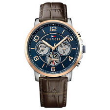 *BRAND NEW* Tommy Hilfiger Men's Chronograph Brown Dial Leather Watch 1791290