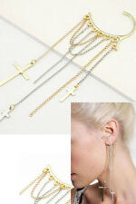 Sexy Women's Fashion Costume Jewellery Long Cross Tassel Hook Ear Cuff