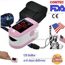 Finger Fingertip Blood Oxygen Meter SPO2 LED Pulse Heart Rate Monitor Oximeter