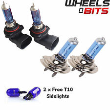 2x H7 x2 HB4 55w HALOGEN HID XENON GAS FILLED BULBS 50% BRIGHTER Super White