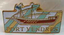 Port Vendres used Hat Lapel Pin Tie Tac HP1315