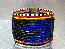 traditional blue masai wrist band bracelet Kenya African