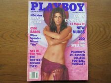 Playboy Magazine October 1998 Issue ~ Cindy Crawford ~ Laura Cover