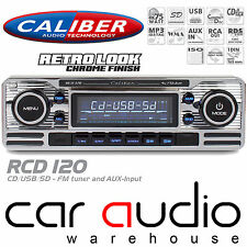 Classic Retro Bluetooth Cd Mp3 Usb Aux estéreo del coche reproductor de radio Plata rcd120bt
