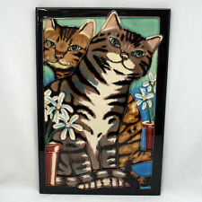 TILE CRAFT - Decorative Tile - Cats SILVER & GOLD - #2173G