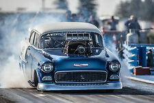"Drag Racing Race Hot Rod chevrolet bel air engi Poster 24""x36"" HD"