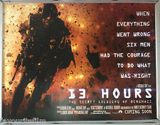 Cinema Poster: 13 HOURS THE SECRET SOLDIERS OF BENGHAZI 2016 (Quad) Michael Bay