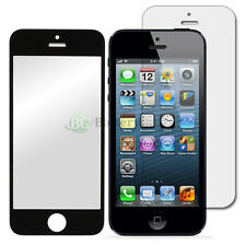 Black LCD Front Screen Glass Lens Replacement+Shield Guard for Apple iPhone 5 5G