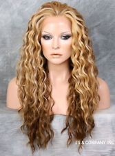 Blonde mix HEAT SAFE Lace Front Wig Curly Long Layered NGTA 2216