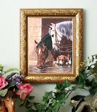 Sale BEACON n BUSTER Horse Print Antique Vintage Style Framed pony pc