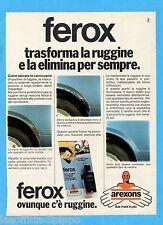 QUATTROR982-PUBBLICITA'/ADVERTISING-1982- AREXONS - FEROX