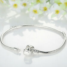 Christmas Silver Plated Snake Chain Jewelry Fit Original Charm Long Chain 18cm