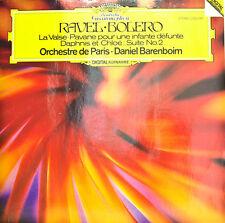 RAVEL BOLERO LA VALSE PAVANE POUR UNE INFANTE DEFUNTE DANIEL BARENBOIM LP (d329)