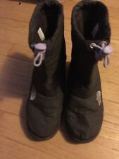 THE NORTH FACE NUPTSE 600g HEATSHIELD SZ.3 BROWN WINTERS SNOW INSULATED BOOTS!
