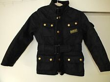 Barbour girls international polarquilt black jacket / coat size M