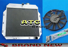 "3 Core Aluminum Radiator + 16"" Fan for 1949-1954 Chevy Sedan/Coupe V8 Conversion"