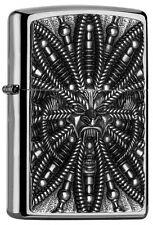 "Zippo Emblem Lighter ""Cyber Devil"" No 2005051 - New on brushed chrome finish"