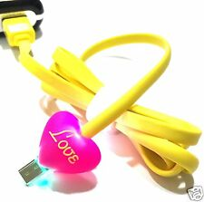1M Cartoon LED Light Charger Data Sync USB Cable For All Micro Usb Mobile
