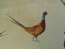 5 Pheasant Counrty Life Game Bird Curtain Upholstery Fabric Hessian Natural Feel