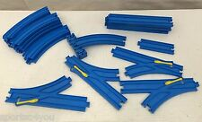 23 Piece Lot Tomy Thomas The Train & Friends Blue Track Straight Curves Switches