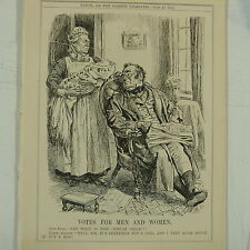 "7x10"" punch cartoon 1912 VOTES FOR MEN AND WOMEN asquith franchise bill"