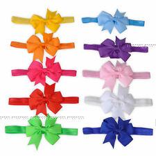 10pcs Elastic Baby Headdress Kids Hair Band Girls Bow Newborn Headband Ribbon 01