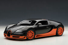 Bugatti Veyron Super Sport, Carbon Black/Orange Side Skirts 1:18 AutoArt 70936