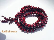 Prayer Beads Mala Bracelets Charm Buddhist Rosary 8mm RED
