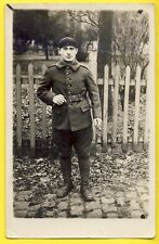 cpa CARTE PHOTO MILITAIRE SOLDAT du 11 ème RÉGIMENT Armée Uniforme