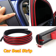 Weatherstrip D-shape Universal Car Door Rubber Weather Seal 4M 13FT Hollow Strip
