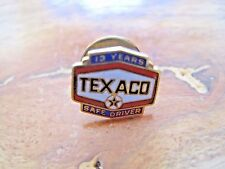 Texaco Safe Driver Pin Back--13 Years--1/10 10K Gold Filled