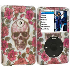For iPod Classic 80GB 120GB 160GB Hard Rubberized Case Red Rose Skull