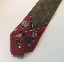 Ruff Hewn Silk Tie Fly Fishing Theme Rod & Reel Lures True American Wear