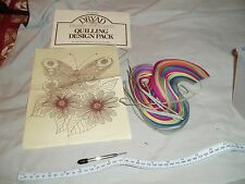 Quilling Design Pack - Butterfly and Flowers