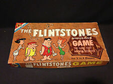 Vintage 1961 THE FLINTSTONES Stoneage Board Game, Transogram, TV cartoon !!!