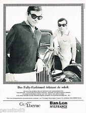 PUBLICITE ADVERTISING 075  1966  GUY DE BERAC  polo homme  BAN-LON