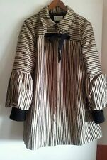 NOA NOA STRIPED CAMEL WINTER COAT size M