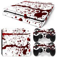 Sony PS4 Playstation 4 Slim Skin Aufkleber Schutzfolie Set - Blood Motiv