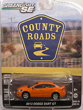 GREENLIGHT COLLECTIBLES 1:64 SCALE DIECAST METAL ORANGE 2013 DODGE DART GT