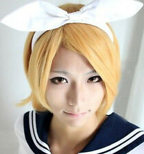 NEW High Quality Vocaloid Kagamine Magnet Rin Len Cosplay Wig Party Hair ZA01