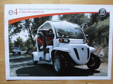 GLOBAL ELECTRIC MOTORCARS (GEM) e4 Electric Car brochure - 2008 Matra interest