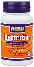 Butterbur 75mg with Feverfew 60 Caps Now Foods, Migraines