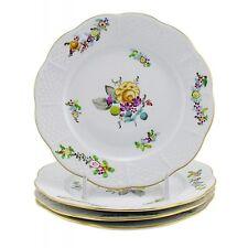 Hungarian Porcelain Herend Liechtenstein Grand Bread & Butter Plates Set of Four