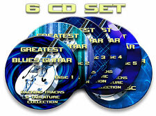 6x CD GREATEST BLUES GUITAR AUDIO BACKING JAM TRACKS & TABLATURES TABS SONG BOOK