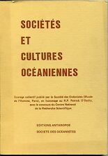 Sociétés et cultures océaniennes - Société des Océanistes
